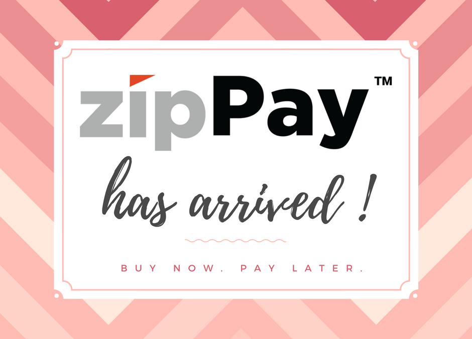 ZipPay. Buy now pay later.