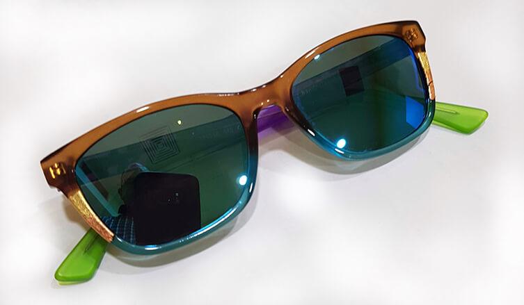 Custom sunglasses - Ronit Furst optical frames with Shamir non prescription lenses