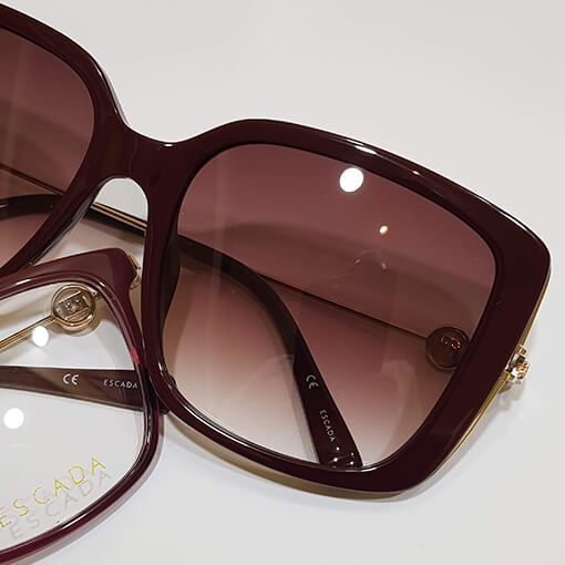 Escada-burgundy-sunglasses - Eyecare Plus Tamworth