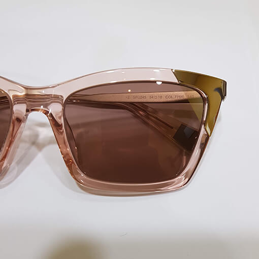 Furla pink crystal frame and lenses with mirror corner - Eyecare Plus Tamworth