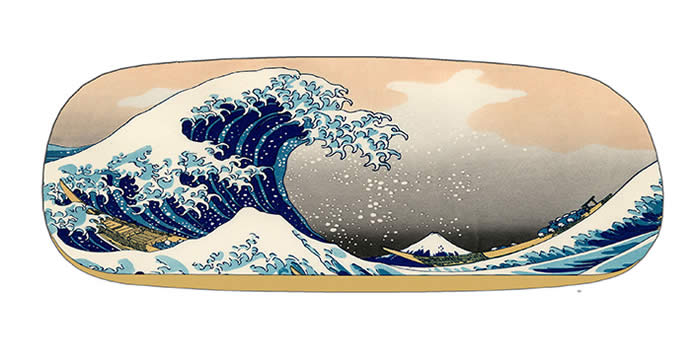 hard case and lens cloth - Hokusai - The Great Wave