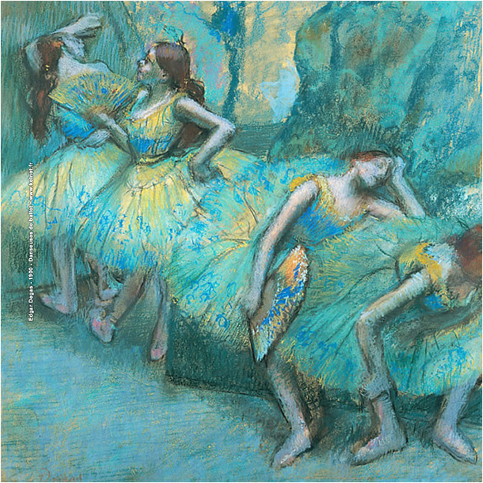 lens cloth - Degas - Dancers in Blue