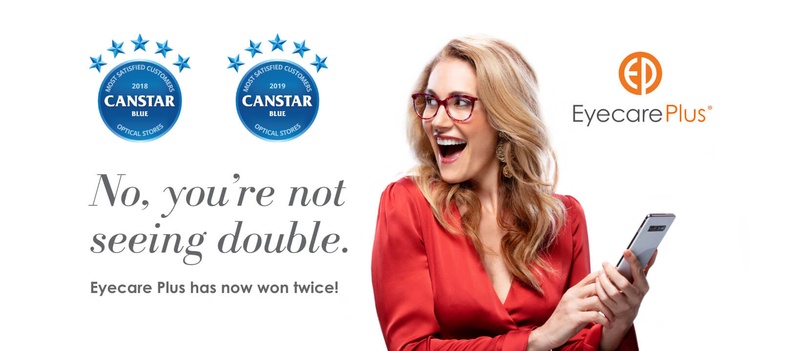 Canstar Blue Most Satisfied Customers Award, Optical Stores, 2018 - Eyecare Plus Tamworth