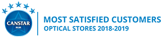 Canstar Blue Most Satisfied Customers Award, Optometrists, 2018-2019