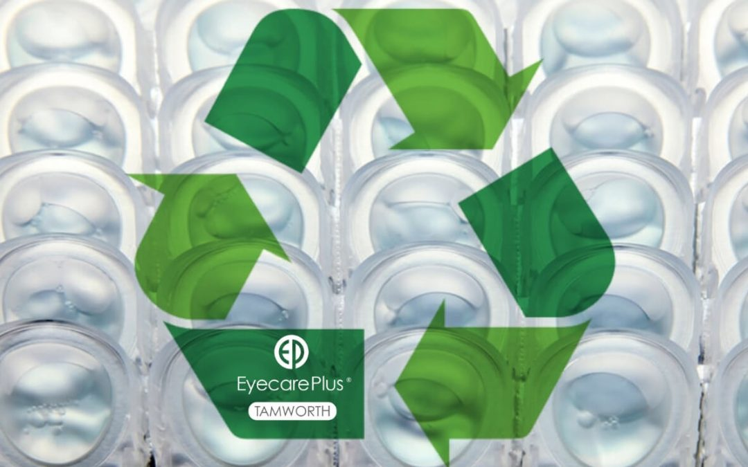 Eyecare Plus Tamworth recycling contact lenses and packaging