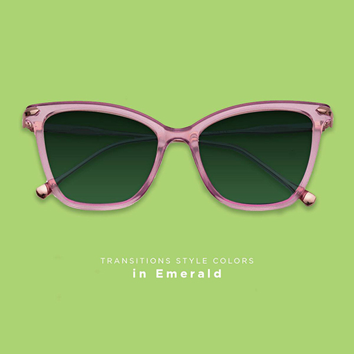 Transitions lenses Emerald